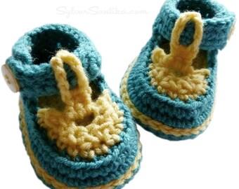 Crochet Pattern: Baby Sandal Booties