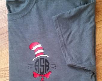Cat in the Hat Tshirt, Dr. Seuss Tshirt, Teacher, Teacher TShirt, Read Across America, Dr Seuss Clothing