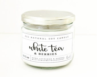 White Tea & Berries Candle 11.5oz.