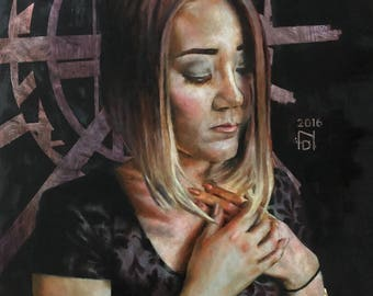 Adoration - Oil Painting Giclee Print