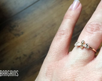 Sweet Honey Bee Stack-able Ring Size 7 or 8 Either Gold, Silver, or Rose Gold Color