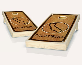 SALE - California State Stained Cornhole Set, Birthday, Tailgate, Bachelor Party Gift for Men, Husband, Boyfriend, Father, Son