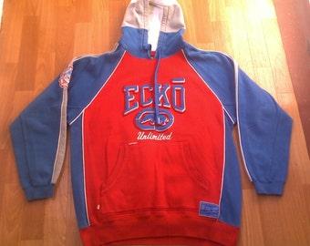 ECKO UNLTD hoodie, vintage hip hop sweatshirt, sweat shirt 90s hip-hop clothing, 1990s, OG, gangsta rap, size M Medium