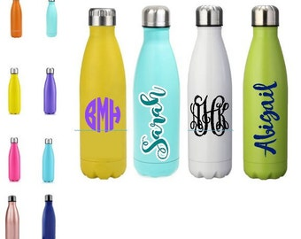 SALE Personalized stainless steel vacuum sealed water bottle 17oz