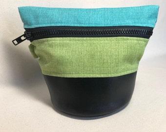 Small Traveling Yarn Bowl Project Bag - Mediterranean Summer