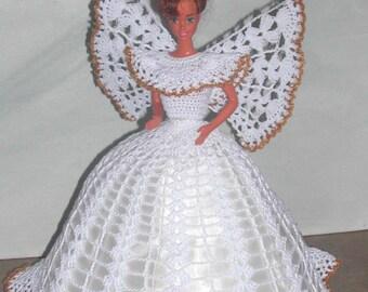 Crochet Fashion Doll Barbie  Pattern- #499 ANGEL FAITH