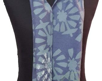 Jersey hemp, cut-out flower scarf