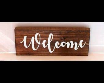Welcome sign, housewarming gift , quote sign, entry way sign, mud room sign