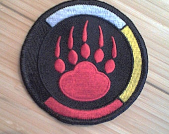 """3"""" BEARCLAW-MEDICINE WHEEL Embroidered Patch"""