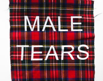 MALE TEARS Red Flannel Back Patch