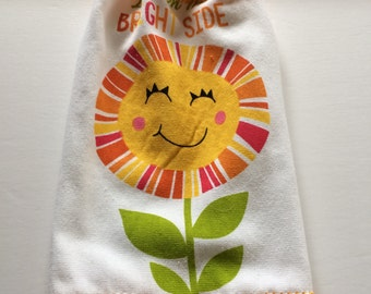 SUMMER = LOOK on the Bright Side  Kitchen Hanging Towel