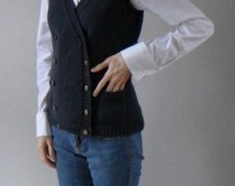 PATTERN - Pocketses - Knitted Vest Pattern PDF
