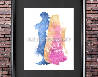 I See the Light Tangled 8x10 Poster - DIGITAL DOWNLOAD / Instant Download / Princess / Rapunzel / Flynn Rider