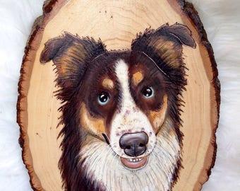 dog portrait, wood portait, custom dog portrait, custom pet portrait, pet portrait, custom portrait, pet painting, dog art, portrait custom