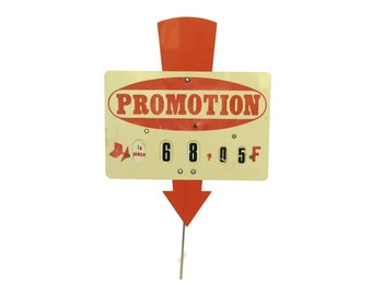 French Butchers Price Ticket Label. Vintage Store Promotion Display Sign. Deli Decor.