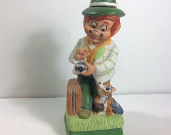Mr Lucky Series The Tourist liquor decantor Hoffman Distilling. Free ship to US