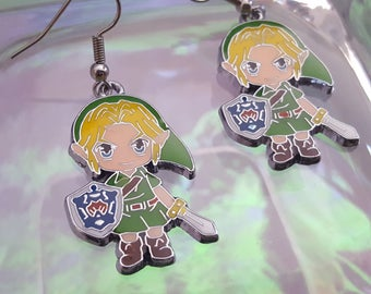 Link dangle earrings. Taken from the legend of Zelda