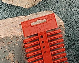 Linic 5 x Strips of 6mm Red Fixing Masonry Plastic Wall Plugs, UK Made. (S7656) Free UK Postage