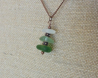 Sea Glass Necklace from the Mediterranean Sea