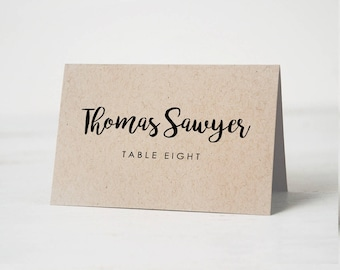 Wedding Place Cards Etsy - Wedding place card template word