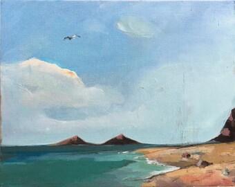Beach Decor Oil Painting by B. Kravchenko for SEASTYLE Original Home & Living  Art Gift
