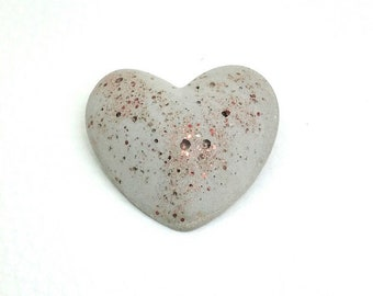 Concrete brooch Heart & copper crystals-mother's Day-gift-