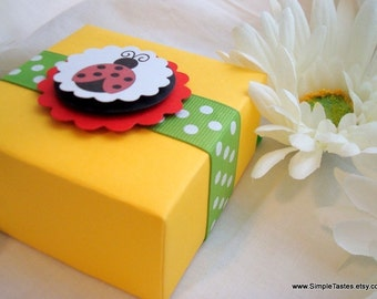 Ladybug Favor Boxes, Set of Ten