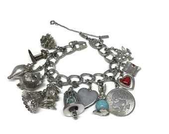 Loaded Monet Charm Bracelet with 13 Charms