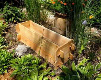 CEDAR PLANTER BED Deck Planter Patio Planter Childrens Garden Outdoor Planter Large Planter Cedar Planter Gifts for Gardeners Boho Chic