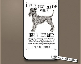 Irish Terrier dog phone case cover iPhone Samsung ~ Can be Personalised