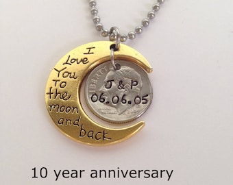 10 Year Anniversary, 10 Year Anniversary for Her, 10 Year Anniversary Gift, Ten Year, Anniversary Gift, 10 Year Wedding Anniversary