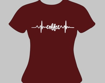 Coffee EKG Women's Tshirt