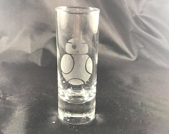 BB8 Star wars inspired shot glass