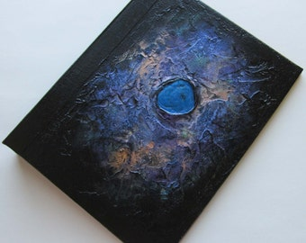 Nebula Journal Handmade Refillable Black copper metallic Jewel 9x7 Original book of shadows