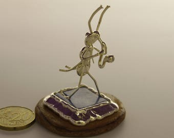 Tiny Ant playing Saxophonist ,Miniature collectors,fine silver plated,Unique sculpture,Ant Musician, A special gift for any music lover