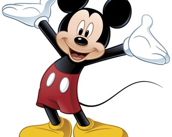Mickey Mouse Cross Stitch Pattern, Modern Counted Disney Cross Stitch Chart, Pdf Format, Instant Download
