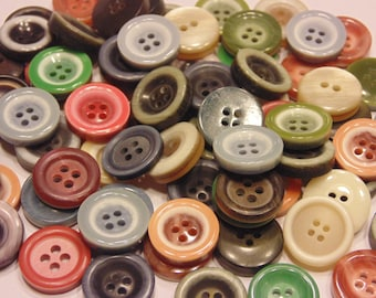 12 piece assorted colorful button mix, 15 mm  (B7)