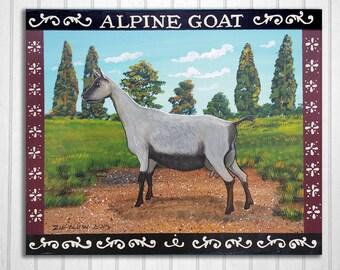 Alpine Dairy Goat Original Painting