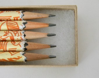 Children's Illustration Hand wrapped pencils