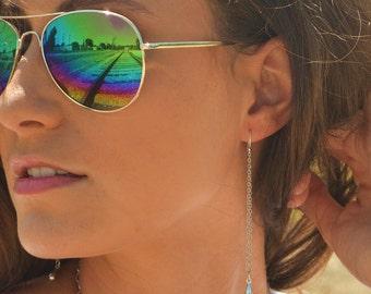Long silver Teardrop earrings gifts for her boho earrings minimalist jewelry