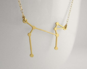 Canis Major Constellation Necklace, Constellation Necklace, Astrology, Stars, Dog Necklace