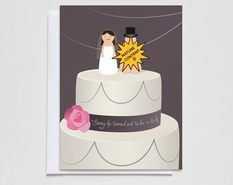 Funny Divorce Card. Sorry He Turned Out to be a... Card #001