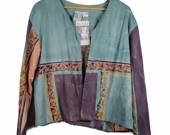 Hand-dyed cotton Globe Trotter of BALI lightweight jacket