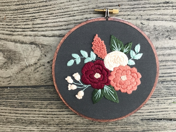 Personalized Gift Embroidery Kit Embroidery Design Beginner