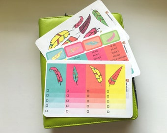Feathers Mini Kit for Erin Condren Planners