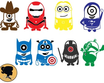 Minions vector etsy minion super heroes svg minion captain america svg fun minion minions design clipart stopboris Gallery
