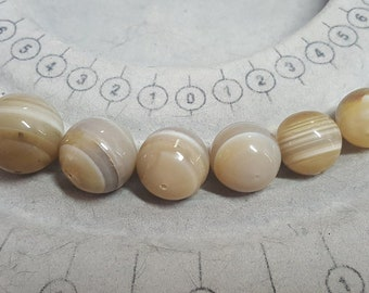 13-17mm Agate Beads - Graduated Beads -  Natural Agate - Banded Agate Beads -  Natural Gemstone - Genuine Gemstone - Beading Supplies