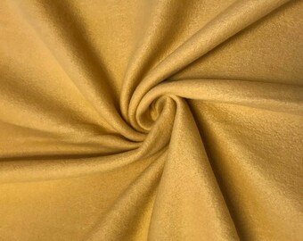 """Gouden solide Polar Fleece stof anti-pill 60"""" breed door de werf"""