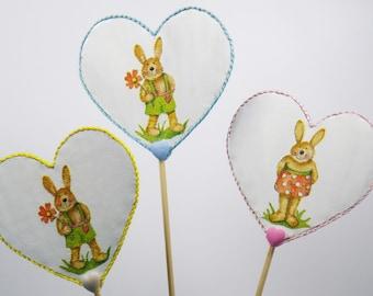 Peaks decorative hearts rabbits with hearts