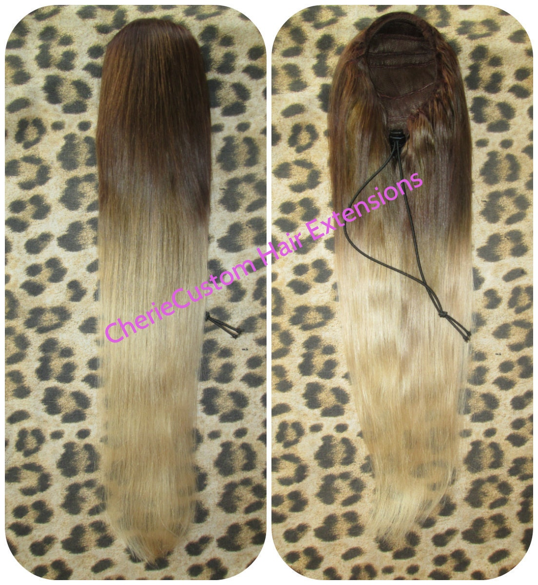 Cherie 8a Remy Human Hair Drawstring Ponytail Hair Extension